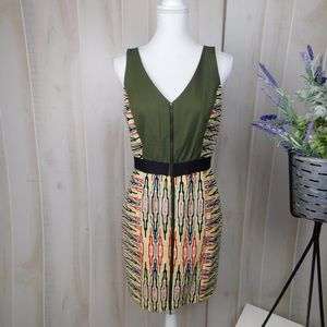 Rachel Rachel Roy Green Patterned Shift Dress
